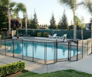 removable pool fence feature