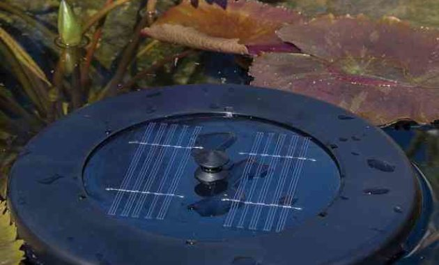 solar aerator for pond