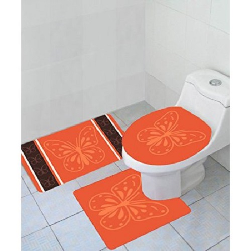 5 cheapest 3 piece bathroom rug sets under 20 for Bathroom 5 piece set