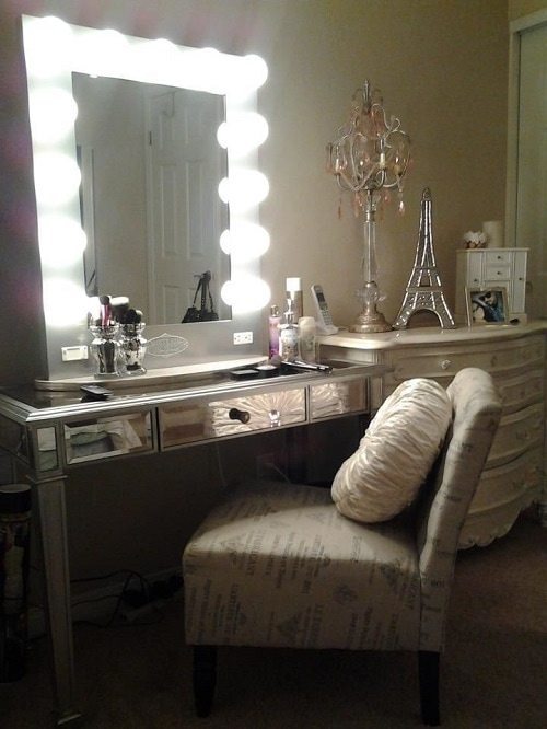Vanity Lights In Bedroom : 15 Fantastic Vanity Mirror with Lights for Bedroom Ideas