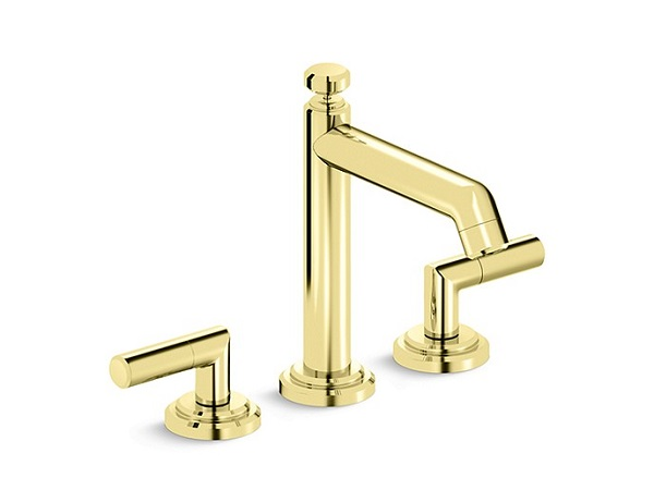 unlacquered brass bathroom faucet