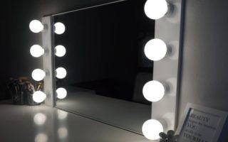 diy vanity mirror with light for bedroom