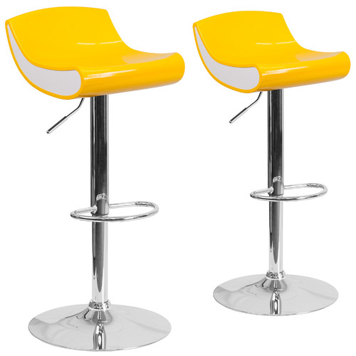 Acrylic Flash Furniture Adjustable Height Swivel Bar Stool