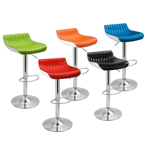 Adeco Adjustable Modern Swiveling Bar Counter Stools