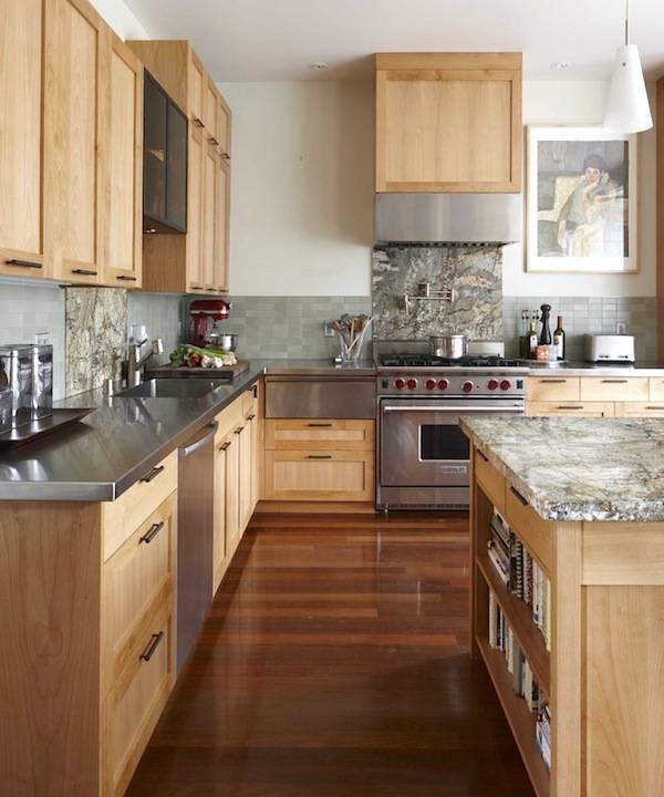Kitchen With Light Maple Cabinets And Dark Countertops: Complete Guides Of Average Cost To Reface Kitchen Cabinets