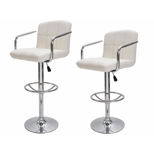 Calhome AdjustableHeight Swivel Bar Stool