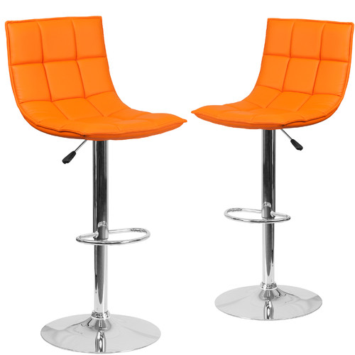 Orange Bar Stools Bing Images