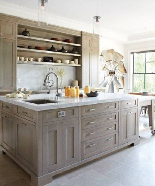 Silver Fox Paint Kitchen: 15 Gorgeous Grey Wash Kitchen Cabinets Designs Ideas