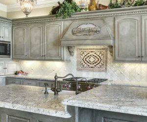 Grey Wash Kitchen Cabinets feature