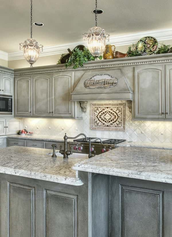 Grey Wash Kitchen Cabinets feature