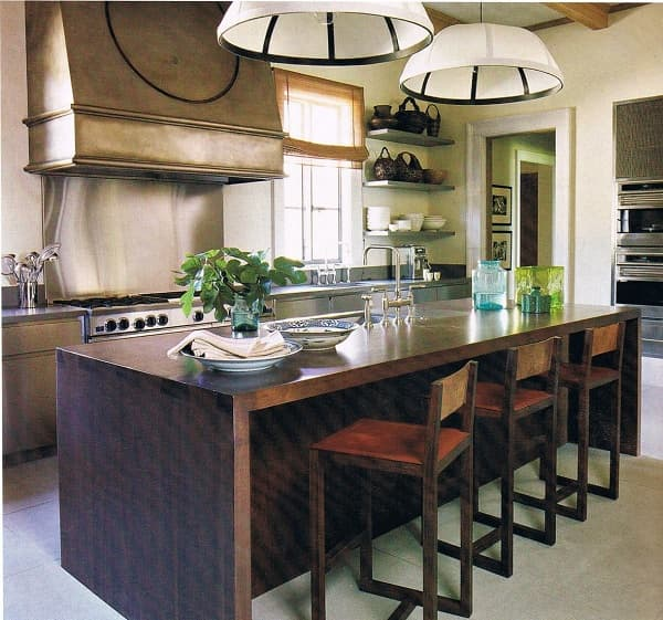 Great Room Kitchen With Large Island: 9 Classic Design Kitchen Island Stools With Backs Under $100
