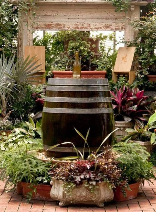 diy bottle fountain