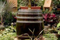 diy bottle fountain feature