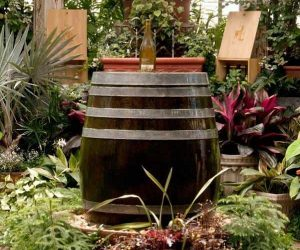 diy bottle fountain feature