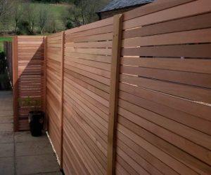 red cedar fence