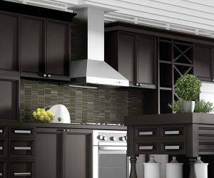 features outdoor kitchen vent hood