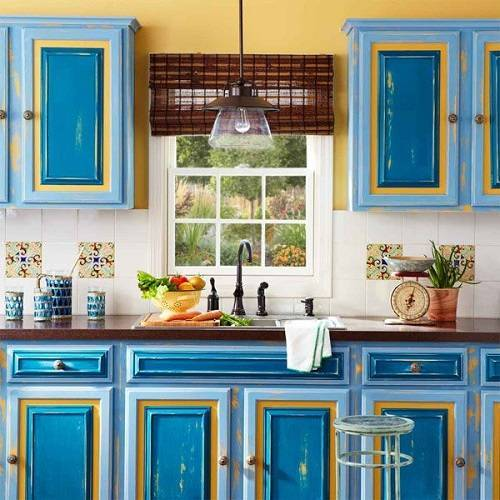 Kitchen Cabinet Door Painting: 13+ Clever Kitchen Cabinet Color Combination You Have To Try