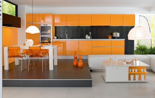 kitchen cabinets color combination