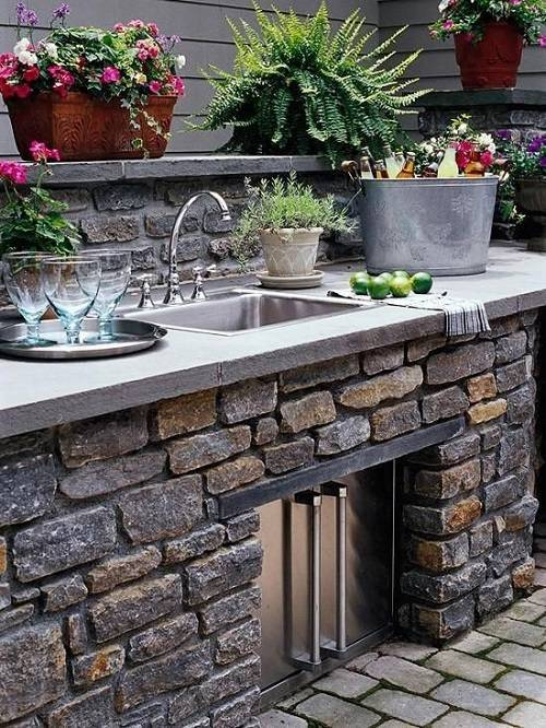 15 Most Outrageous Outdoor Kitchen Sink Station Ideas on Patio Sink Station id=34030