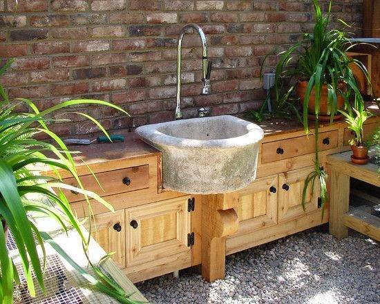 15 most outrageous outdoor kitchen sink station ideas for Outdoor kitchen sink