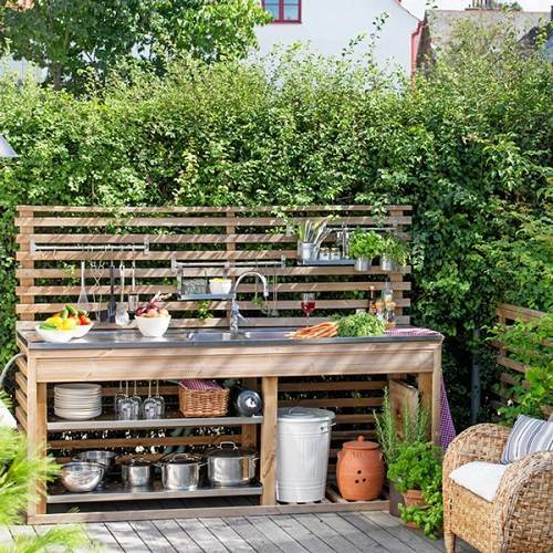 Backyard Kitchen Garden: 15 Most Outrageous Outdoor Kitchen Sink Station Ideas