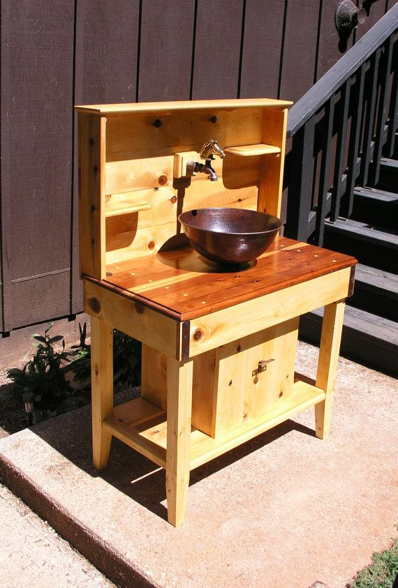 outdoor kitchen sink station feature