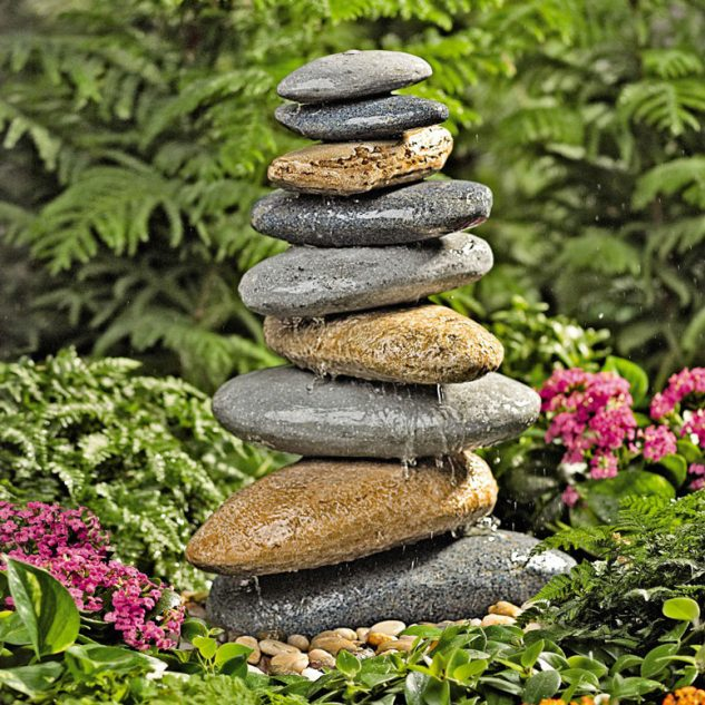 rock fountain ideas 13