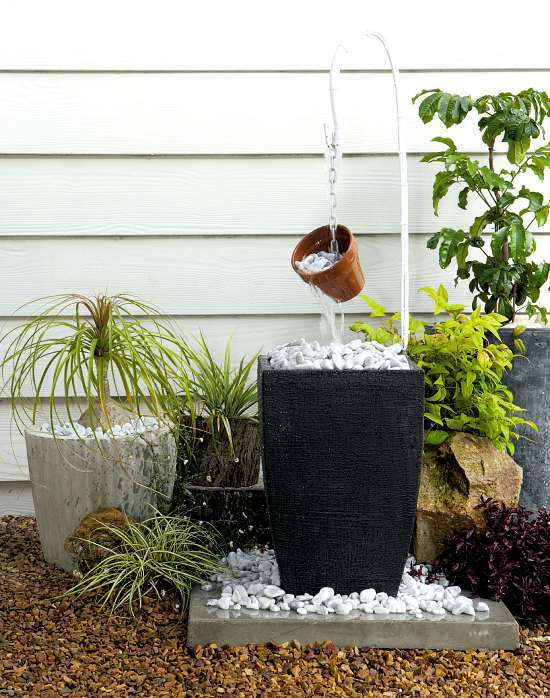 15 most clever rock fountain ideas for your backyard - Indoor water feature ideas ...