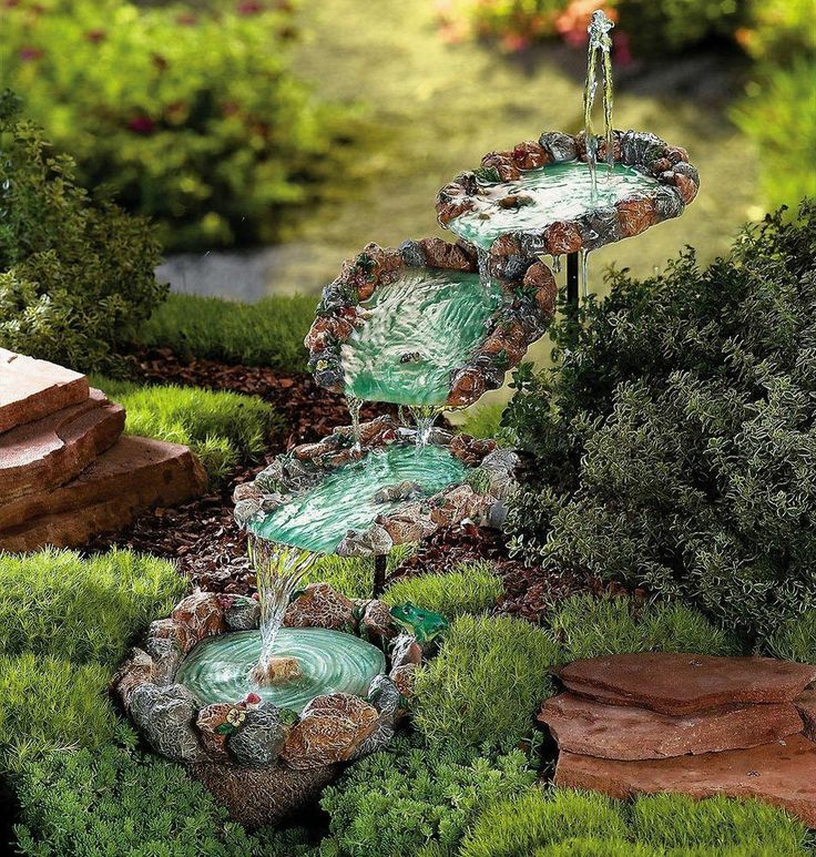 rock fountain ideas 2