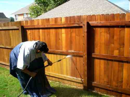 5 minutes fence stain