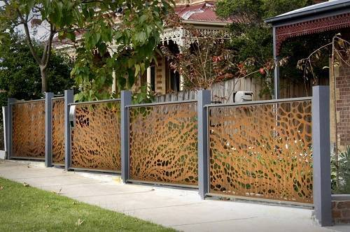 steel fence panels residential 3