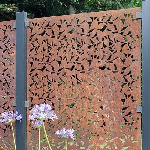 steel fence panels residential 4