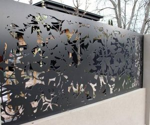 steel fence panels residential ideas