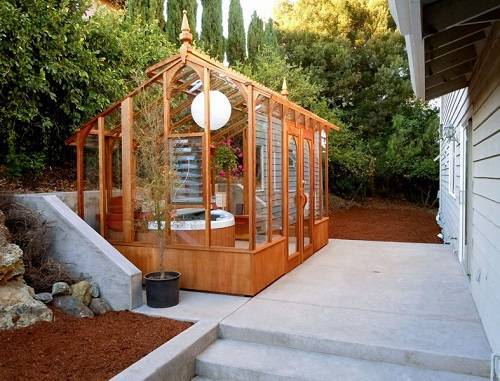wooden hot tub enclosure 1