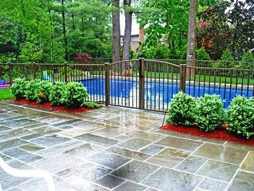 wrought iron pool fence 16