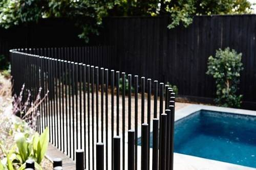 wrought iron pool fence 10
