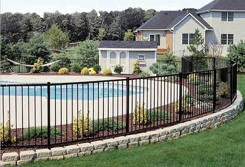 wrought iron pool fence 2