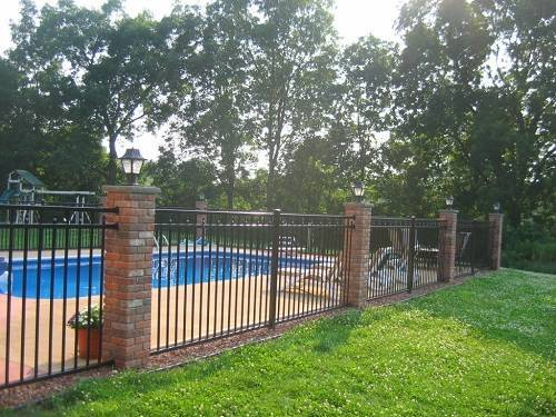 wrought iron pool fence 5