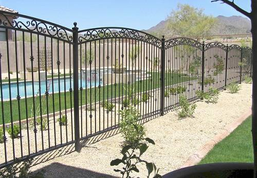wrought iron pool fence 6