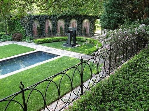 wrought iron pool fence 7