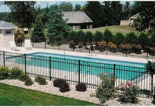 13 latest and elegant wrought iron pool fence ideas for In ground pool fence ideas