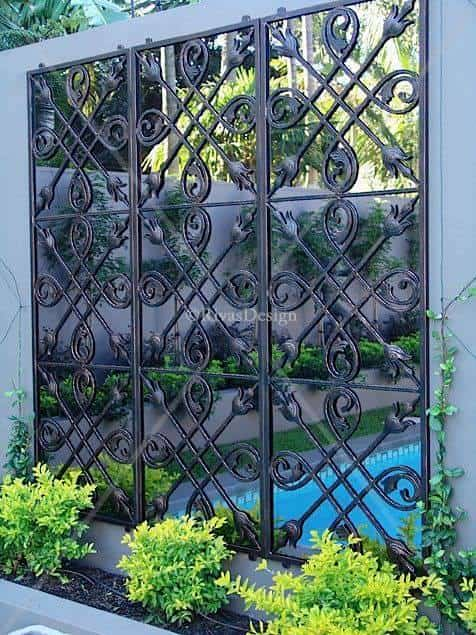 wrought iron pool fence 9