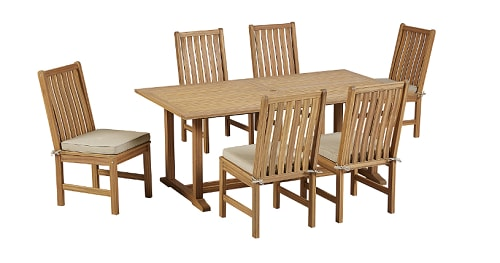 7 Piece Natural Wood Dining Set 5