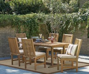 7 Piece Natural Wood Dining Set feature