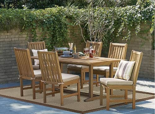 7 Piece Natural Wood Dining Set