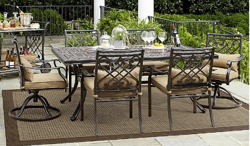 Grand Resort Patio Furniture Review   7 Piece Villa Park Dining Set of Grand Resort Outdoor Furniture Reviews