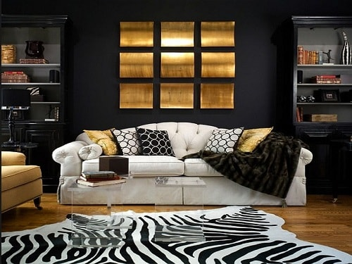 Black And Gold Living Room Decor 1