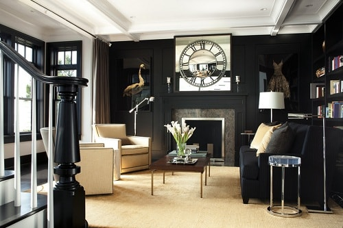Black And Gold Living Room Decor 3