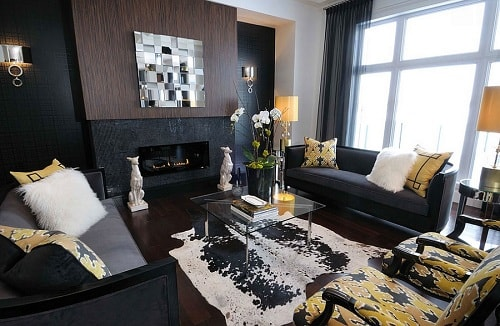 Amazing Black And Gold Living Room Decor 6 Part 24