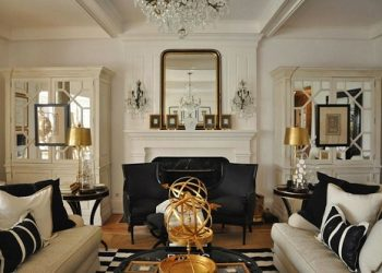 Black And Gold Living Room Decor Featured